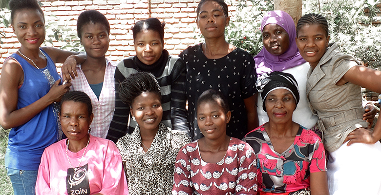 A group of tailors of the project Taste of Malawi